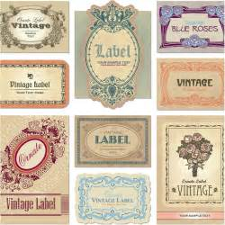 vintage label template 18 label design vector images free vintage label