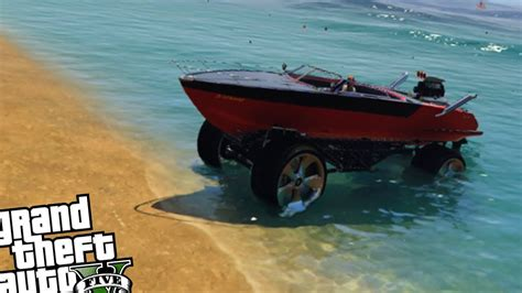 truck and boat trailer games monster truck boat mobile mod gta 5 pc youtube