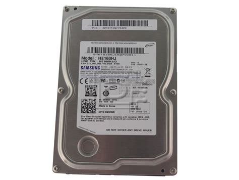 Harddisk Samsung samsung spinpoint he160hj 160gb 7200rpm sata 3 5 quot drive