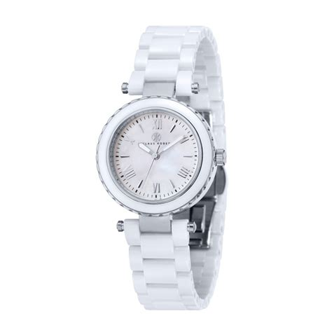 Women's White Ceramic Watch   Venus KK 10006 01   Klaus Kobec