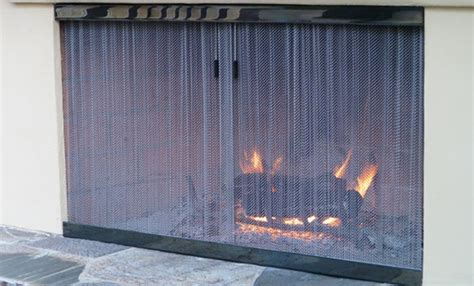 Outdoor Fireplace Screens by Cascade Coil Outdoor Fireplace Screen Products We Ve