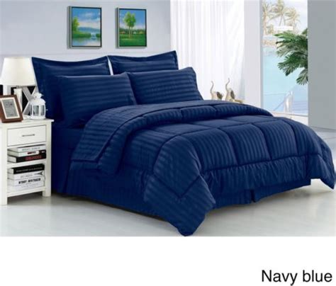 navy blue comforter set queen american original navy liam stripe bed in a bag bedding