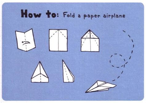 How To Fold A Paper Airplane - how to fold a paper airplane quot the slicer quot postcard