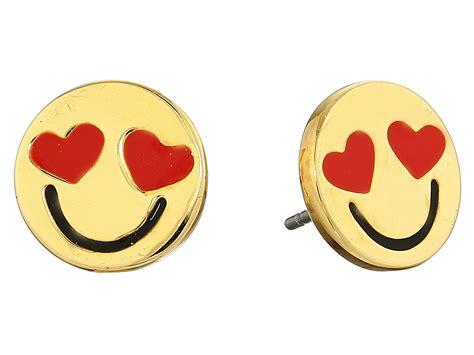 emoji earrings kate spade tell all smitten emoji studs earrings in red
