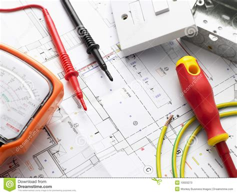 electrical supply house electrical equipment on house plans stock photos image 10003273