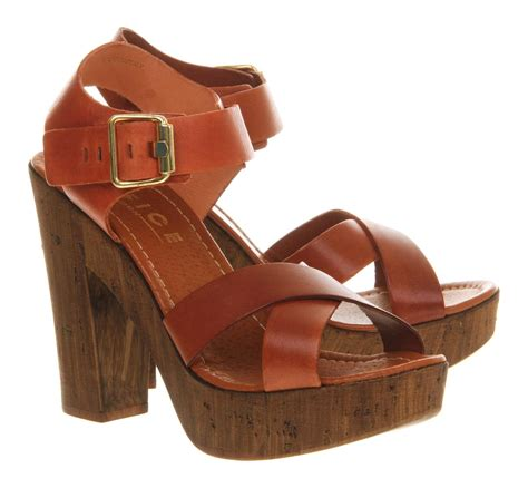 sandals jamaica the office office jamaica wood leather open toe platform sandals in