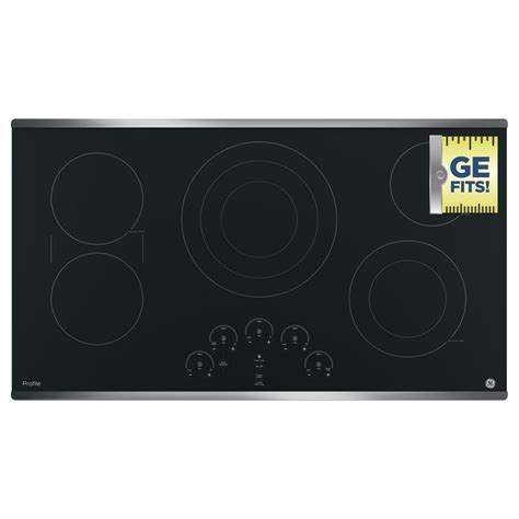 36 Cooktop Electric - ge profile 36 in radiant electric cooktop in stainless
