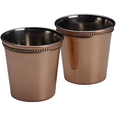 Copper Bar Glasses Mikasa Shiny Copper 2 Pc Glass Set Bar