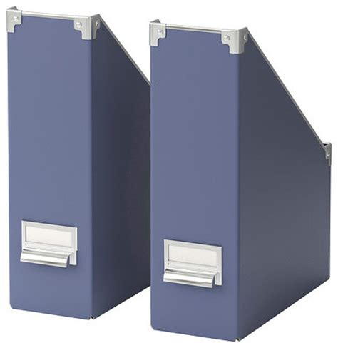 Blue Desk Accessories Kassett Magazine File Blue Set Of 2 Modern Desk Accessories By Ikea