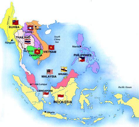 asia sea map southeast asia maps