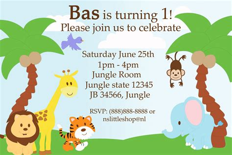 Jungle Theme Birthday Invitations Free Printable Best Party Ideas Themed Invitations Free Templates