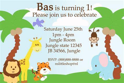 Jungle Theme Birthday Invitations Free Printable