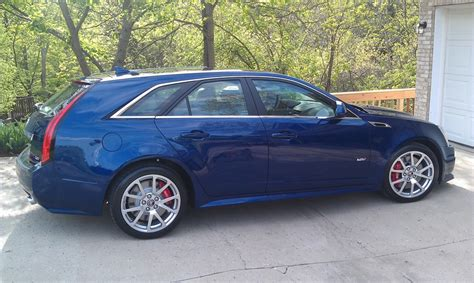 2012 cadillac cts colors 2012 cadillac cts wagon blue 200 interior and exterior