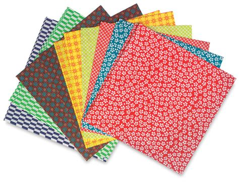 What Is Origami Paper Made Of - aitoh kimono and folk origami paper blick materials
