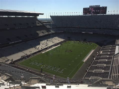 kyle field visitor section kyle field section 410 rateyourseats com