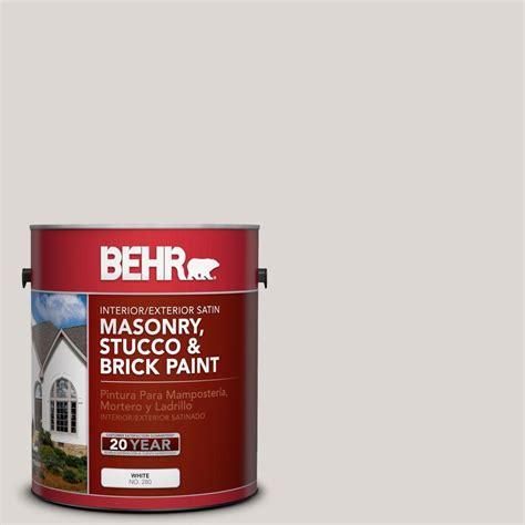 behr premium 1 gal ms 88 pearl gray satin interior exterior masonry stucco and brick paint