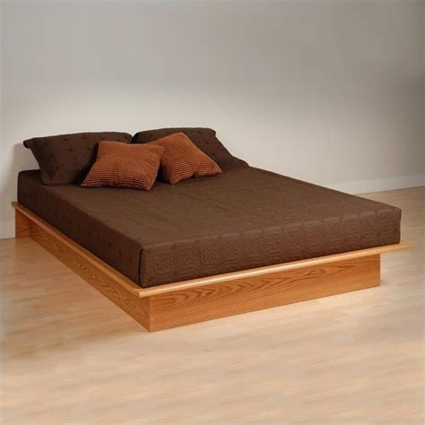 queen size platform beds oak queen platform bed obq 6080 k