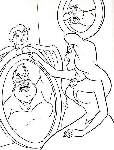 coloring pages disney walt disney coloring pages scuttle ursula