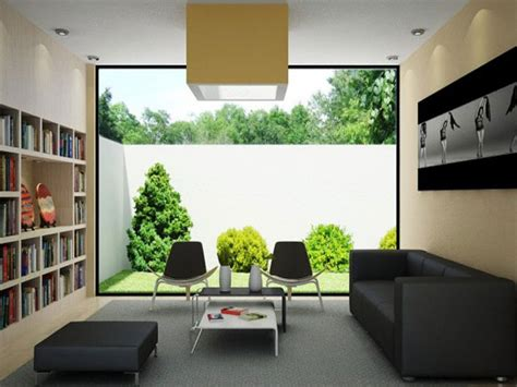 modern living room design with garden view 4 home ideas