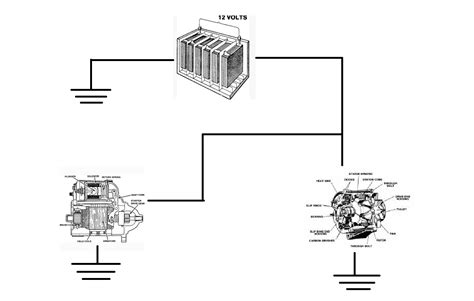 simple engine diagram with alternator 28 images motor