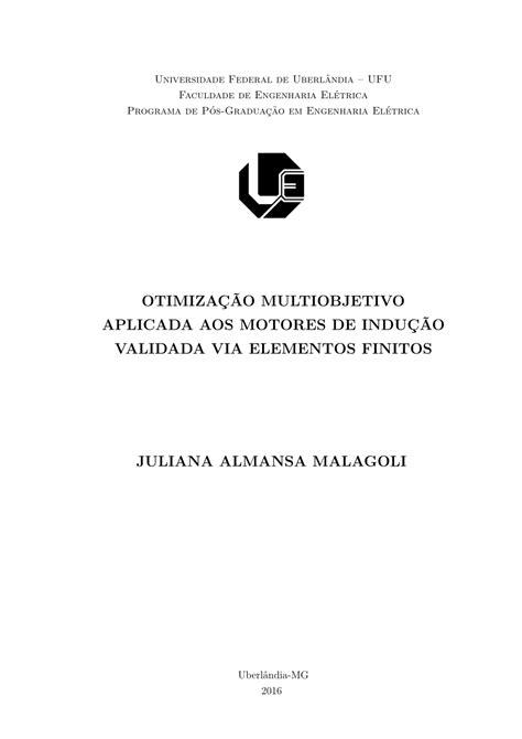 (PDF) Otimização multiobjetivo aplicada aos motores de