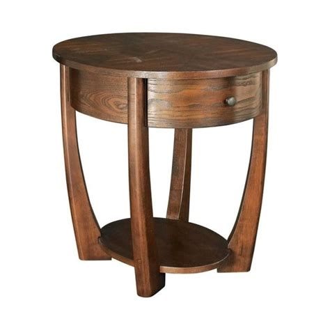 brown accent table hammary concierge oval end table in brown t3001836 00