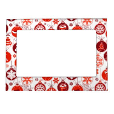 christmas pattern frame christmas ornaments magnetic picture frames zazzle