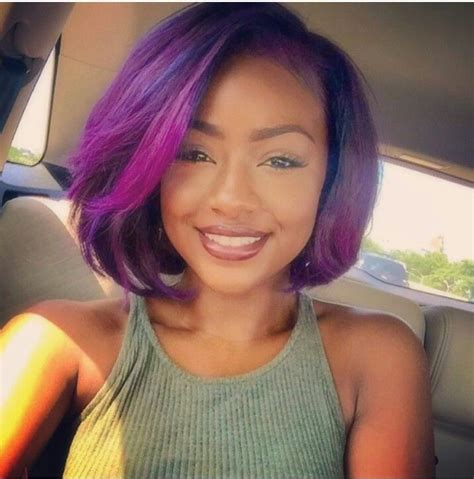 purple hair for black women 142 best bobbed and layered hairstyles i love images on
