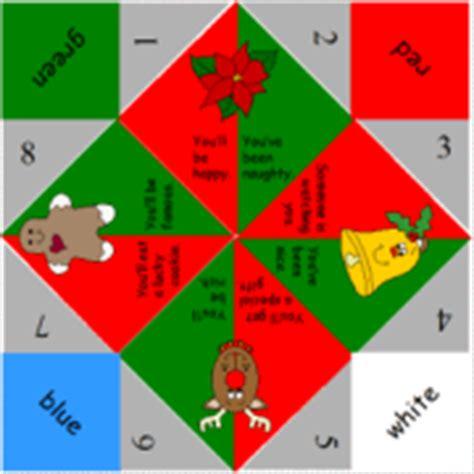 printable christmas fortune teller christmas fortune teller