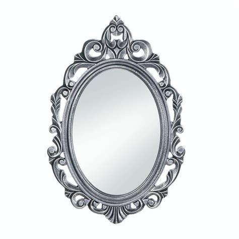 bathroom wall mirrors decorative oval rustic silver royal