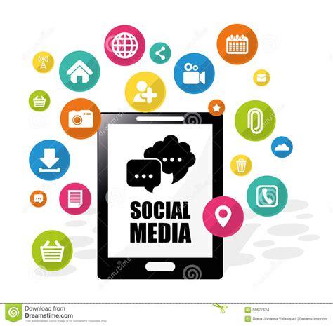 design graphics for social media social media design stock vector image 58677624