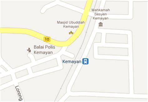 Ktm Intercity Map Kemayan Railway Station Mrt My