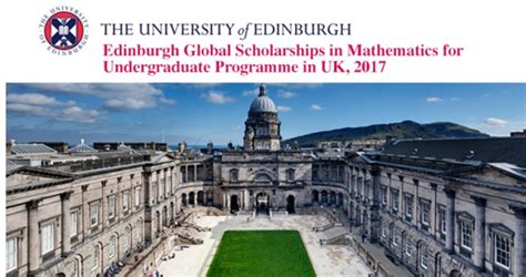 Of Edinburgh Mba Scholarships by Of Edinburgh Is Offering Global Scholarships In