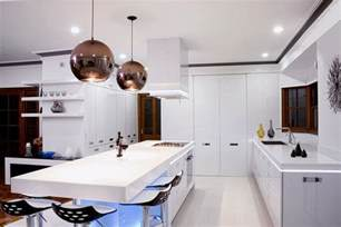 Modern Pendant Lighting For Kitchen 17 Light Filled Modern Kitchens By Mal Corboy