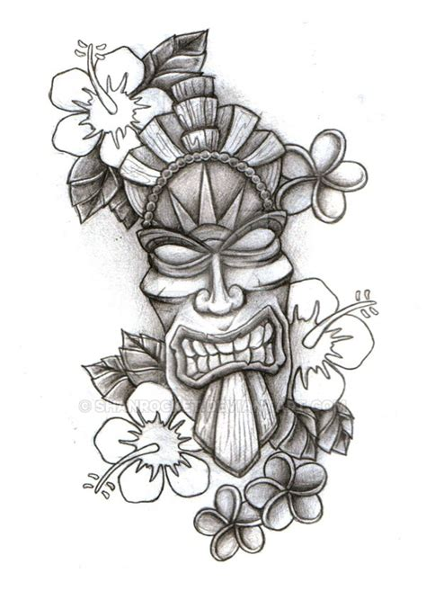 polynesian tiki tattoo designs tiki mask sketch by shanrocket on deviantart aztecs