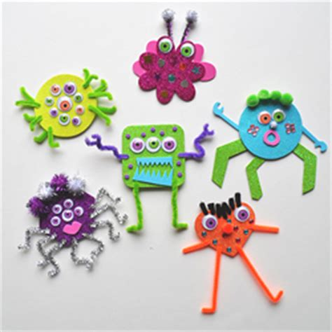 Glittery foam monsters fun family crafts