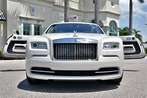 rolls royce white wraith rare rolls royce wraith in carrara white for sale