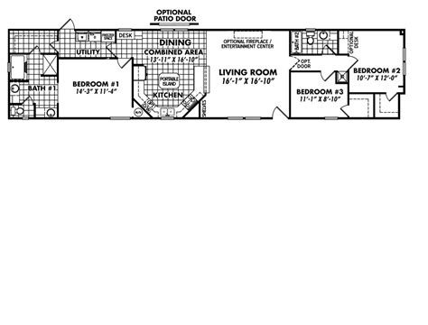 18x80 mobile home floor plans 2016 classic frontier collection home model 1880 32f