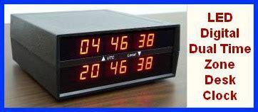 Lu Emergency Led Timezone ck 2 led digital dual time zone clock electronics usa