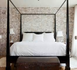 a dash of black whitewashed brick poster beds and