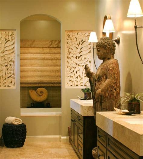 Charmant Papier Peint Salle De Bain Pas Cher #1: 7salle-de-bain-zen-d%C3%A9co-salle-de-bain-exotique-touche-orientale-deux-vasques-simples-encastr%C3%A9-dans-des-meubles-salle-de-bain-e1470040859746.jpeg