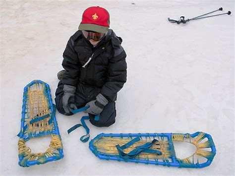 diy snow shoes make your own snowshoes boys magazine