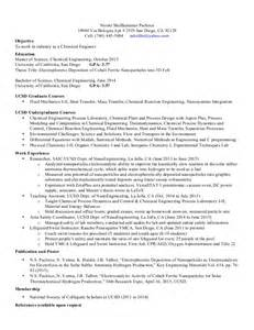 Sle Resume For Chemical Engineer by Be Chemical Engineering Resume Sales Engineering Lewesmr
