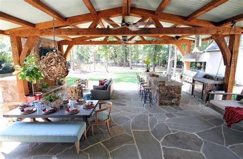 Lucy and Company: Incredible covered patio with natural