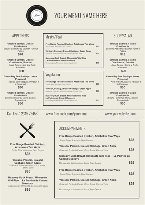 restaurant menu templates free word doc 770477 free restaurant menu template word publisher