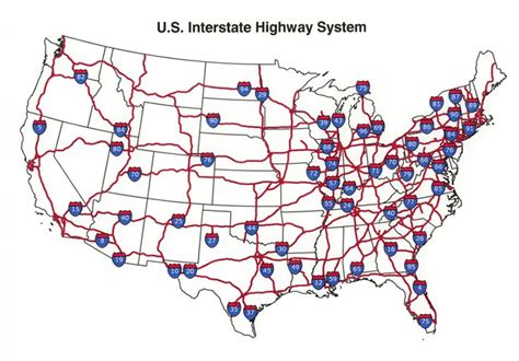 road map us highways u s interstate highway map see the usa in a different