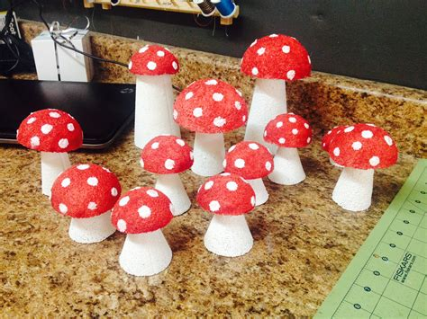 mushroom home decor alice in wonderland diy decorative tea party mushrooms