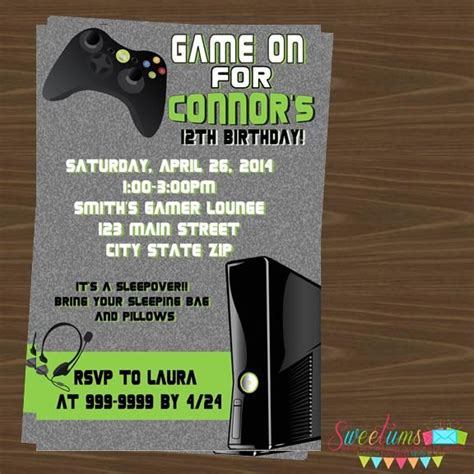 free printable xbox birthday invitations xbox game party invitations images frompo