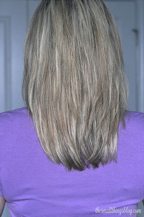 back views of gray hair styles my haircut the small things blog