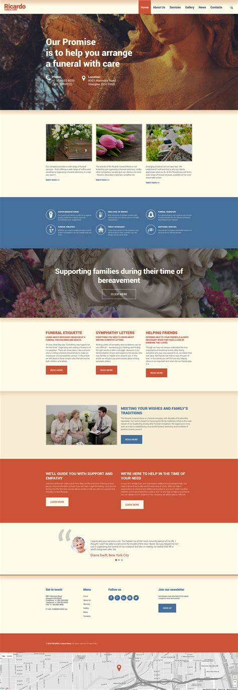 Drupal 404 Template by Funeral Services Drupal Template